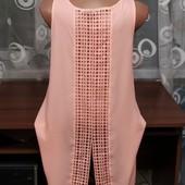Летняя блуза- туника с очень красивой кружевой спинкой р.12 от Atmosphere