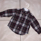 Стоп! ❤ Клетчатая фирменная рубашка на годик❤Собирайте лоты,экономьте на доставке