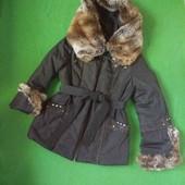 Куртка с шикарным капюшоном, р 46-50