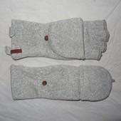 Тёплые и мягкие перчатки-варежки- трансформеры Tchibo(Германия), рр: 6,5