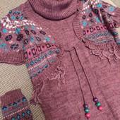 Платье туника и митенки новое хс или подростку