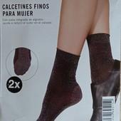 Комплект 2 шт женские носки с люрексом Esmara Германия размер 39-42