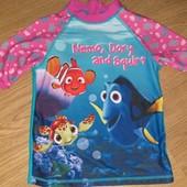 Купальная футболка с защитой от уф 4-5лет замеры на фото
