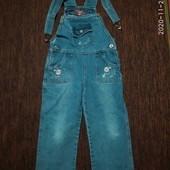 Комбинезон джинсовый,4-6 лет