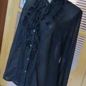 Красивая блуза с рюшами, крепшифон, 50-52