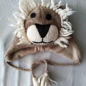 Зимняя шапка львенок для малыша
