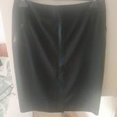 Черная классическая юбка-карандаш на наш 54-56р