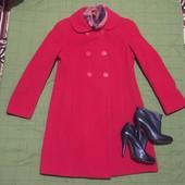 #156 Стильная модель Шерстяного пальто (80%), в подарок платочек на шею