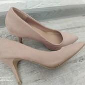 Туфли женские средний каблук бежевые softpink