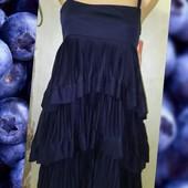 Оригинальное мини платье с рюшами h&m s size