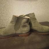 ботинки осенние замшевые