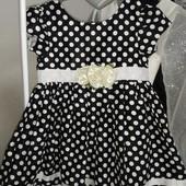 Красивое нарядное платье на девочку 3-4года замеры на фото