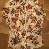 Хлопковая рубашка в цветочный принт