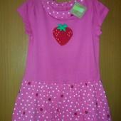 Нове легке літнє плаття Crazy8 на 4 роки з клубнічкою. Платье Крэйзи оригинал