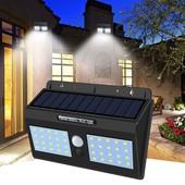Настенный уличный светильник с датчиком движения Solar motion sensor Light 40 Led двойной YH-818