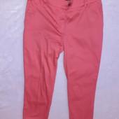 Крутые брюки 3/4 малиновые
