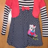Красивое платье на девочку 3-5лет