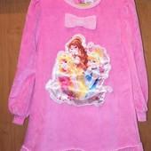 Тёплое платье для девочки с принцессами дисней, 4-5лет
