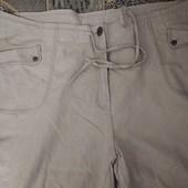 Летние натуральные хлопковые брюки, большой размер