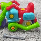 Сборный мотоцикл конструктор с отверткой