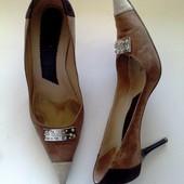 38-39р. Кофейные дизайнерские туфли Les Copains (Италия)