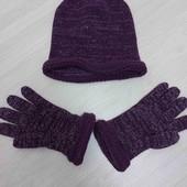 Шапка с перчатками