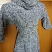 флисовый новый халат с капюшоном рост 100-110