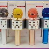 Беспроводной вluetooth Караоке-микрофон WS-858 в коробке