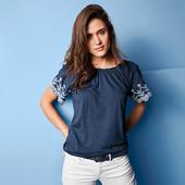 ☘ М'яка блуза в стилі Кармен з декоративною вишивкою від Tchibo (Німеччина), р .: 54-56 (48/50 євро)