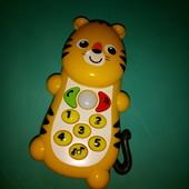 "Обучающая, развивающая игрушка-телефон ""Тигр"", Mothercare"