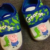 Детские тапочки на липучке свинка Peppa