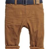 H&M. Крутые коричневые штаны, брюки на 9-12 мес. Новые!