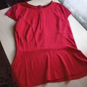 ❤️ Блуза с баской на пышные формы УП -10%