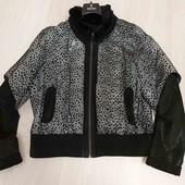 Натуральная куртка +жилетка размер 48-50