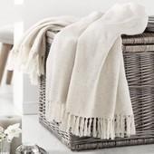 Суперовый плед/одеяло с бахромой с блеском серебра от Tcm Tchibo, Германия, р.125*150 см