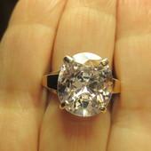 Эффетное крупное серебряное кольцо серебро 925пр.+ золото 375 пр. Новое с биркой!