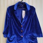 Велюровый пиджак, 48 р электрик
