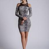 Трикотажное платье в змеиный принт