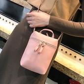 Новая мини сумка через плече, цвет пудра