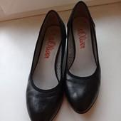 Кожаные фирмовые туфли s.Oliver(стелька -25.5 см)