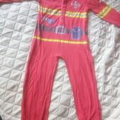 Пижама на 6-7 лет. Пожарный для дома.