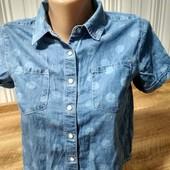 Джинсова сорочка + спідничка чорна XS