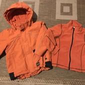 Яскрава мембранна куртка 3 в 1 Fix на зріст 104, носили до 4,5 років зріст 110 см в ідеальному стані