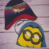 Яркие, классные шапочки на мальчишку 2-4 лет. В лоте обе! .