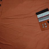 Большая штора блек аут Dunelm +декоративная наволочка в тон