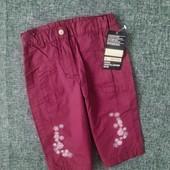 Коттоновые штаны на подкладке TCM Tchibo Германия р.68+