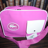 Вместительная спортивная сумка Lacoste. Розовая