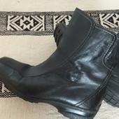 Ботинки сапоги кожа натуральная 24,5,см