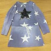 Красивое платье-туника с паетками