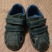шкіряні туфлі-кросовки Clarks, світяться, 22р